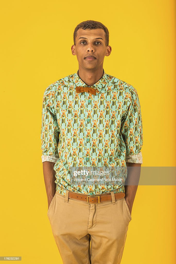 Singer <a gi-track='captionPersonalityLinkClicked' href=/galleries/search?phrase=Stromae&family=editorial&specificpeople=6826786 ng-click='$event.stopPropagation()'>Stromae</a> is photographed for Paris Match on July 23, 2013 in Brussels, Belgium.