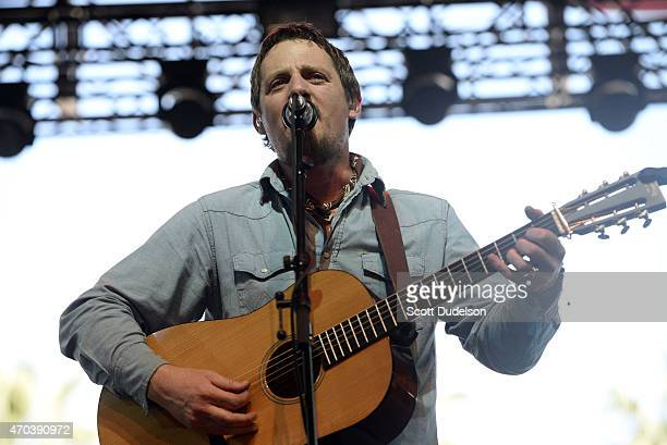 Singer Sturgill Simpson performs onstage during day 2 of the Coachella Music Festival at The Empire Polo Club on April 19 2015 in Indio California