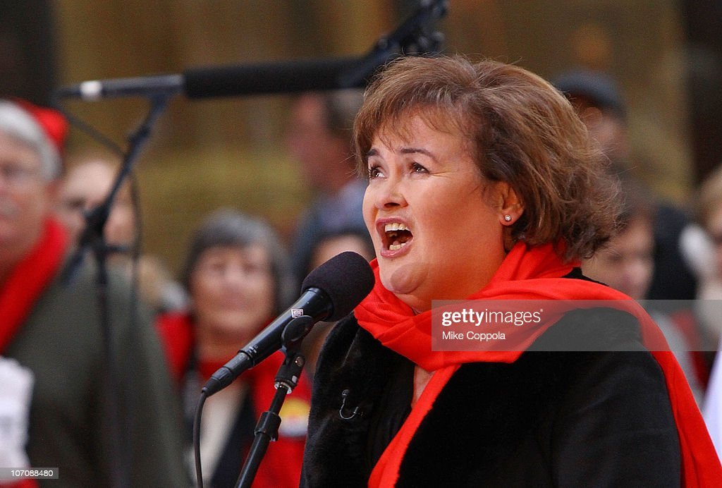Singer Susan Boyle performs on NBC's 'Today' at Rockefeller Center on November 23 2010 in New York City