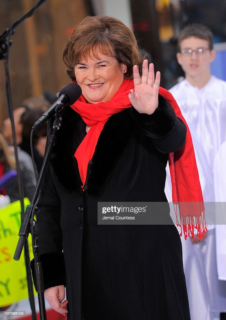 Singer Susan Boyle performs on NBC's 'Today' at Rockefeller Center on November 23, 2010 in New York City.