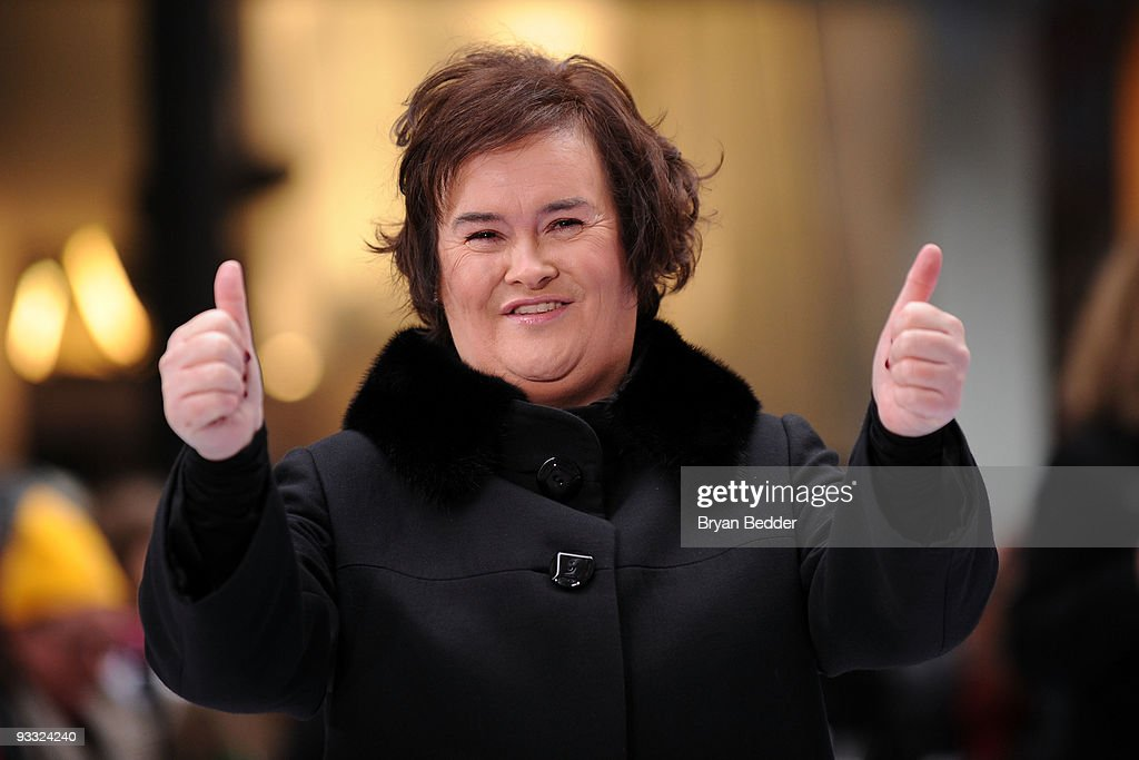 Singer <a gi-track='captionPersonalityLinkClicked' href=/galleries/search?phrase=Susan+Boyle&family=editorial&specificpeople=5810021 ng-click='$event.stopPropagation()'>Susan Boyle</a> performs on NBC's 'Today' at Rockefeller Center on November 23, 2009 in New York City.