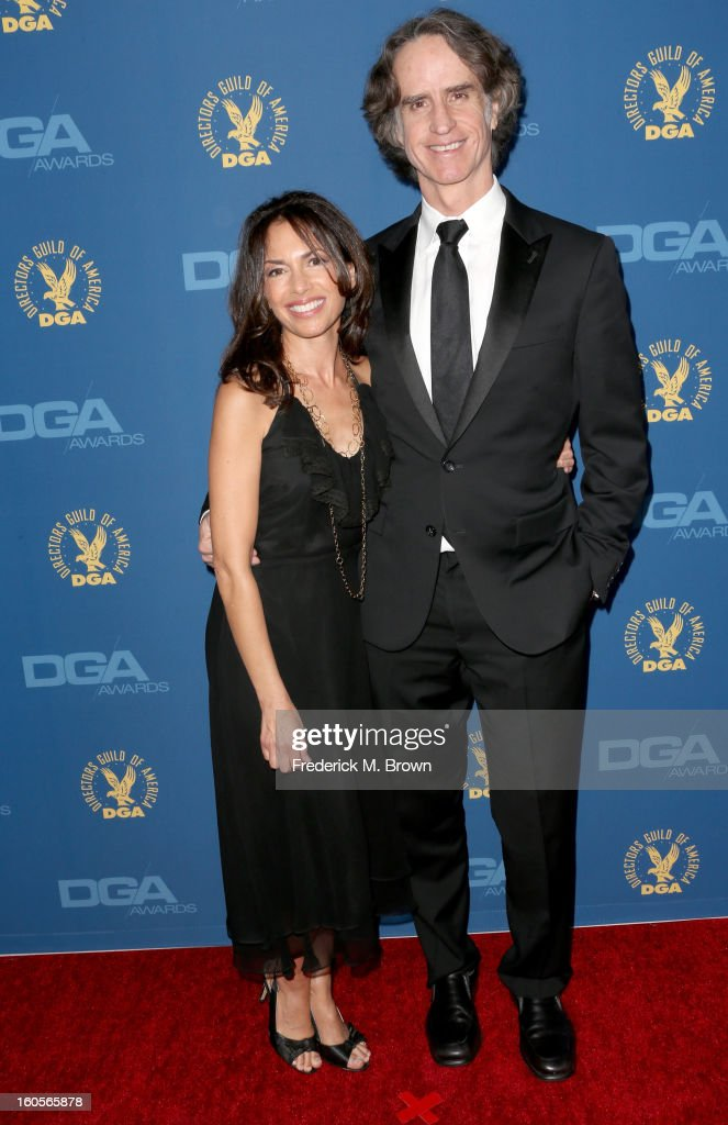 Singer Susannah Hoffs (L) and director <a gi-track='captionPersonalityLinkClicked' href=/galleries/search?phrase=Jay+Roach&family=editorial&specificpeople=2576157 ng-click='$event.stopPropagation()'>Jay Roach</a> attend the 65th Annual Directors Guild Of America Awards at Ray Dolby Ballroom at Hollywood & Highland on February 2, 2013 in Los Angeles, California.