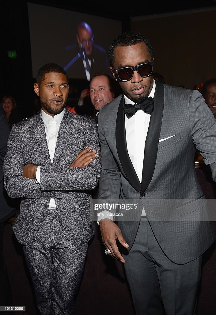 Singer Susher (L) and recording artist Sean 'Puffy' Combs attend the 55th Annual GRAMMY Awards Pre-GRAMMY Gala and Salute to Industry Icons honoring L.A. Reid held at The Beverly Hilton on February 9, 2013 in Los Angeles, California.