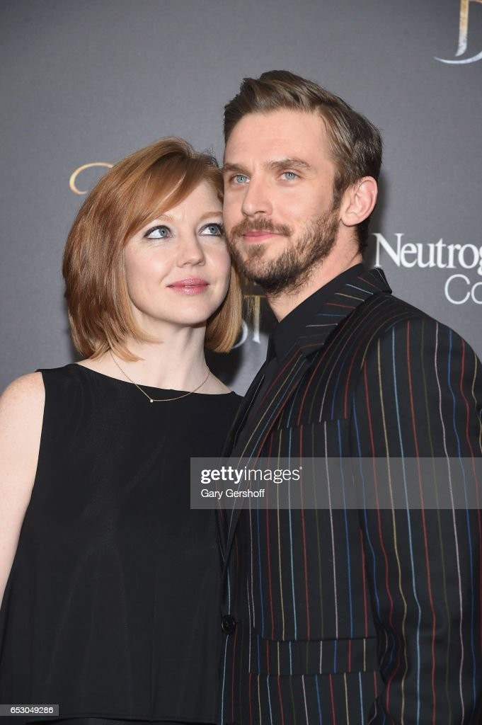 Singer Susie Stevens with husband, actor Dan Stevens attend the 'Beauty And The Beast' New York screening at Alice Tully Hall, Lincoln Center on March 13, 2017 in New York City.