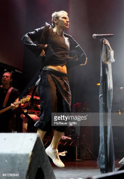 Singer Svatoslav Vakarachuk of the band Okean Enzy performs at the Avalon Hollywood on March 13 2017 in Los Angeles California