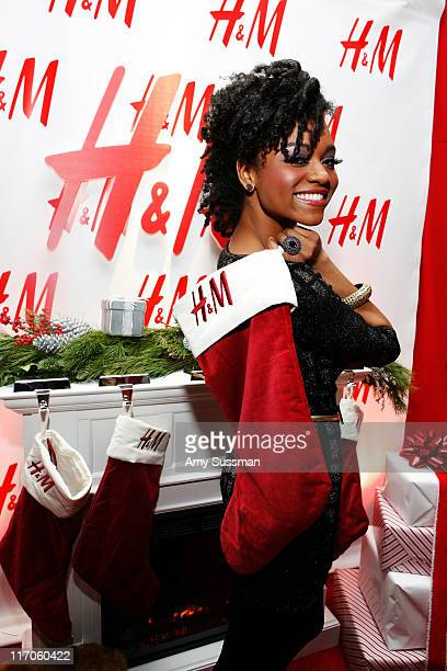 Singer Syesha Mercado attends the HM Artist Gift Lounge at Z100s Jingle Ball at Madison Square Garden on December 11 2009 in New York City