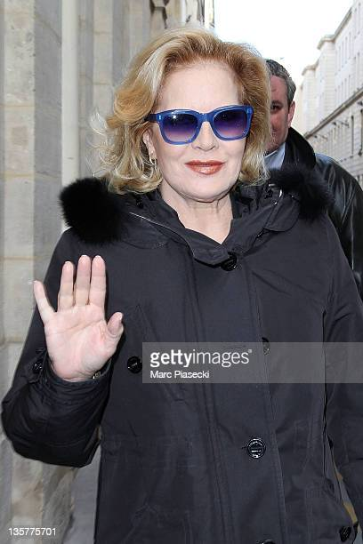 Singer Sylvie Vartan arrives at 'Ministere de la Culture' o receive an honor on December 14 2011 in Paris France