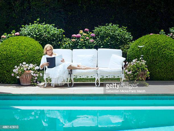 Singer Sylvie Vartan is photographed for Paris Match on July 17 2015 in Los Angeles California