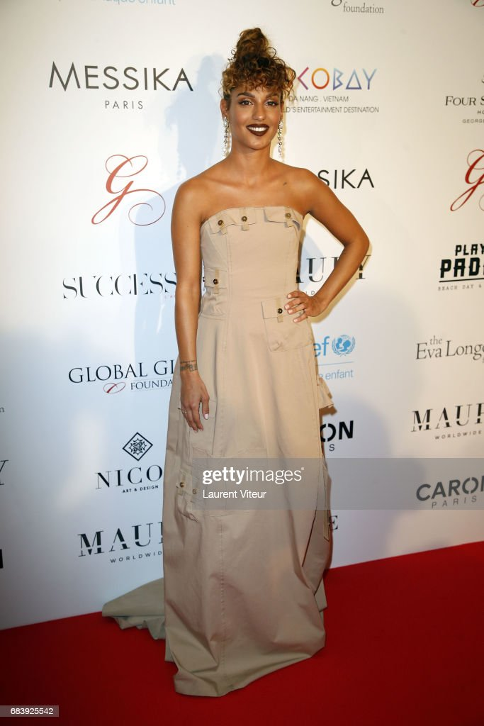 Singer Tal attends Global Gift Gala 2017 at Hotel George V on May 16, 2017 in Paris, France.