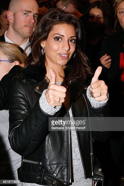 Singer Tal attends the Celine Dion concert at Palais Omnisports de Bercy on November 25 2013 in Paris France
