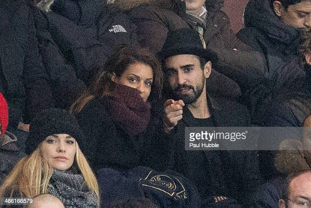 Singer Tal Benyerzi and her boyfriend Anthony Such attend the Paris Saint Germain FC vs Girondins de Bordeaux at Parc des Princes on January 31 2014...