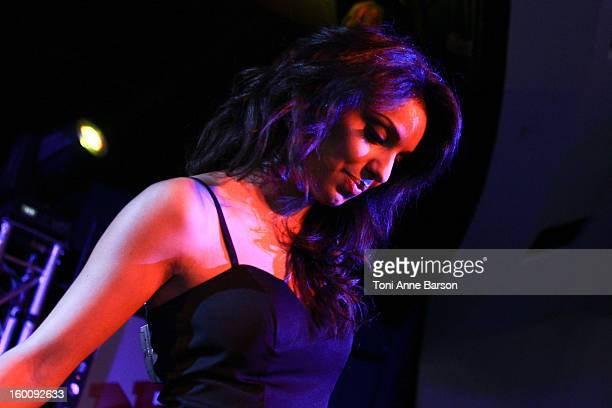 Singer Tal Benyerzi performs during 'Before NRJ Music Awards 2013 Concert' at Palais des Festivals on January 25 2013 in Cannes France