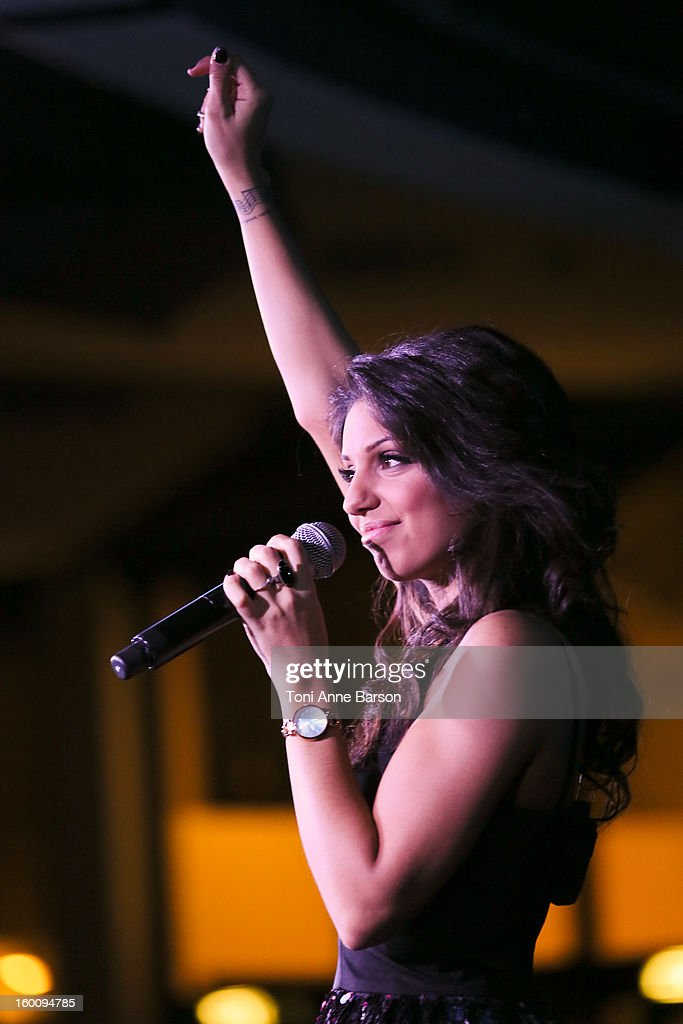 Singer <a gi-track='captionPersonalityLinkClicked' href=/galleries/search?phrase=Tal+Benyerzi&family=editorial&specificpeople=10169170 ng-click='$event.stopPropagation()'>Tal Benyerzi</a> performs during 'Before NRJ Music Awards 2013 Concert' at Palais des Festivals on January 25, 2013 in Cannes, France.