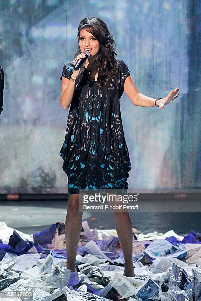 Singer Tal performs during 'La Chanson De L'Annee 2012' Show Recording at Palais des Sports on December 10 2012 in Paris France