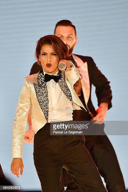 Singer Tal performs during the ceremony of the World Music Awards 2014 at Sporting MonteCarlo on May 27 2014 in MonteCarlo Monaco
