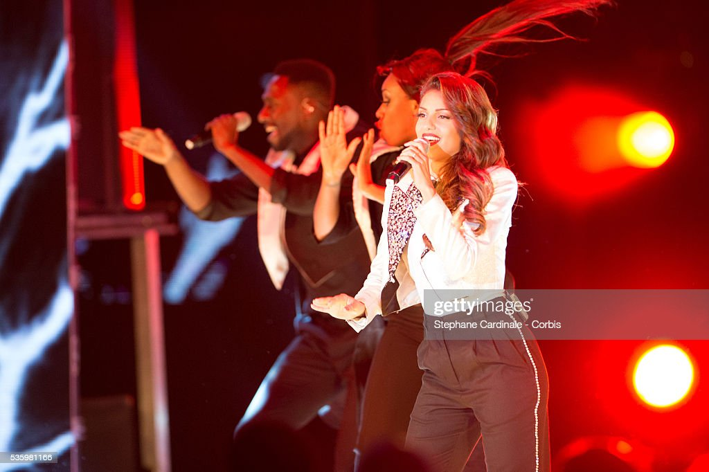 Singer Tal performs during the ceremony of the World Music Awards 2014 at Sporting Monte-Carlo on May 27, 2014 in Monte-Carlo, Monaco.