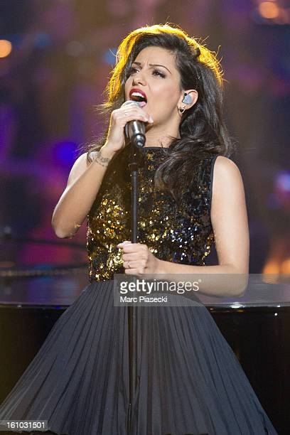 Singer Tal performs during the 'Les Victoires de La Musique 2013' at Zenith de Paris on February 8 2013 in Paris France