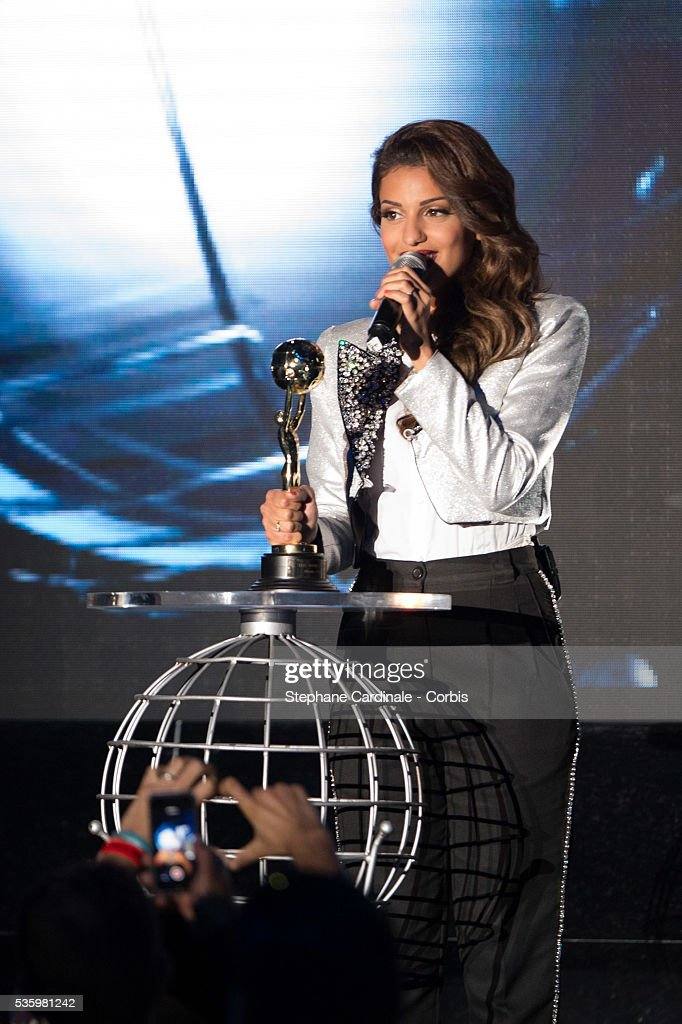 Singer Tal receives the Best Selling French Artist Award during the ceremony of the World Music Awards 2014 at Sporting Monte-Carlo on May 27, 2014 in Monte-Carlo, Monaco.