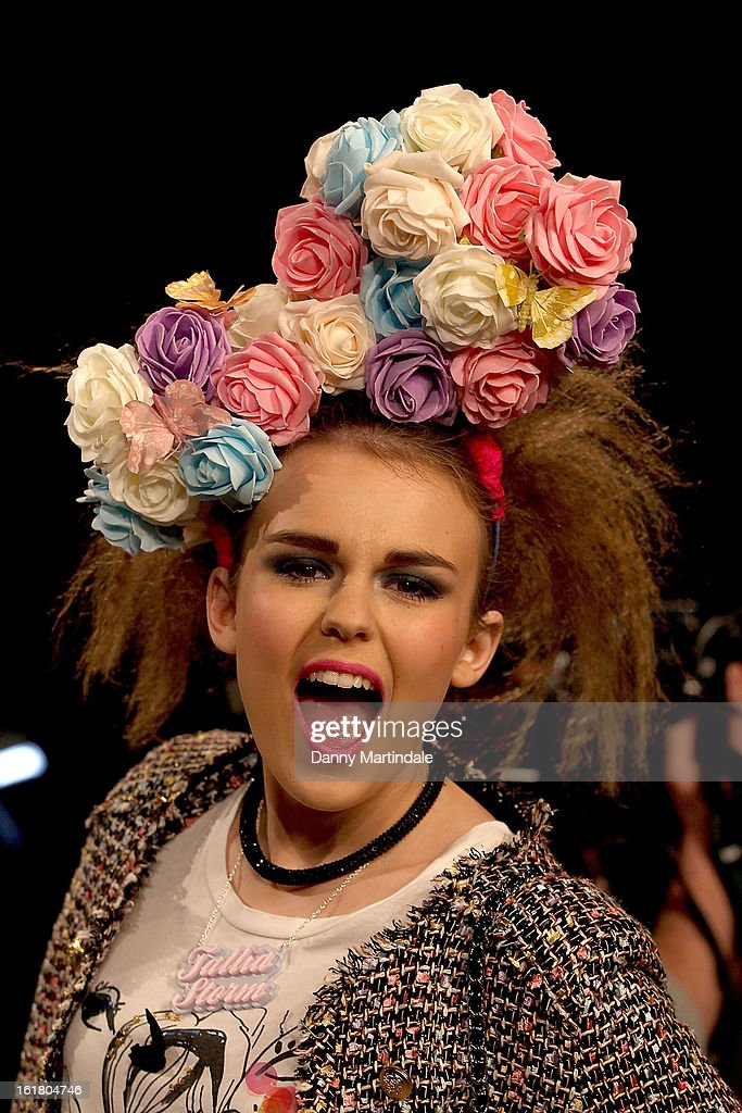 Singer Tallia Storm attends the House of Holland show during London Fashion Week Fall/Winter 2013/14 at Brewer Street Car Park on February 16, 2013 in London, England.