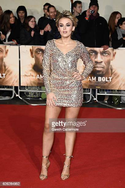 Singer Tallia Storm attends the World Premiere of 'I Am Bolt' at Odeon Leicester Square on November 28 2016 in London England