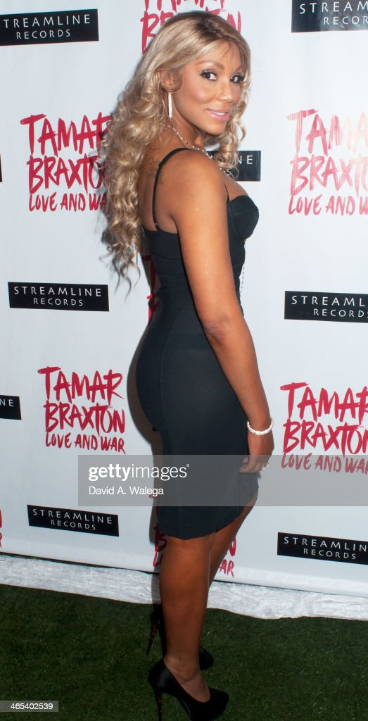 Singer Tamar Braxton arrives at Xen Lounge for a Night to Celebrate Tamar Braxton's GRAMMY Nominations on January 26, 2014 in Los Angeles, California.