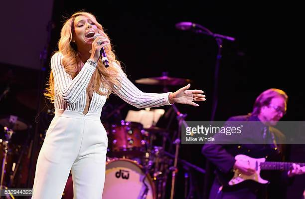 Singer Tamar Braxton performs onstage at the 12th Annual MusiCares MAP Fund Benefit Concert Honoring Smokey Robinson at The Novo by Microsoft on May...