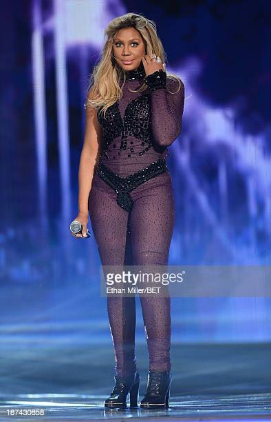 Singer Tamar Braxton performs onstage at the Soul Train Awards 2013 at the Orleans Arena on November 8 2013 in Las Vegas Nevada