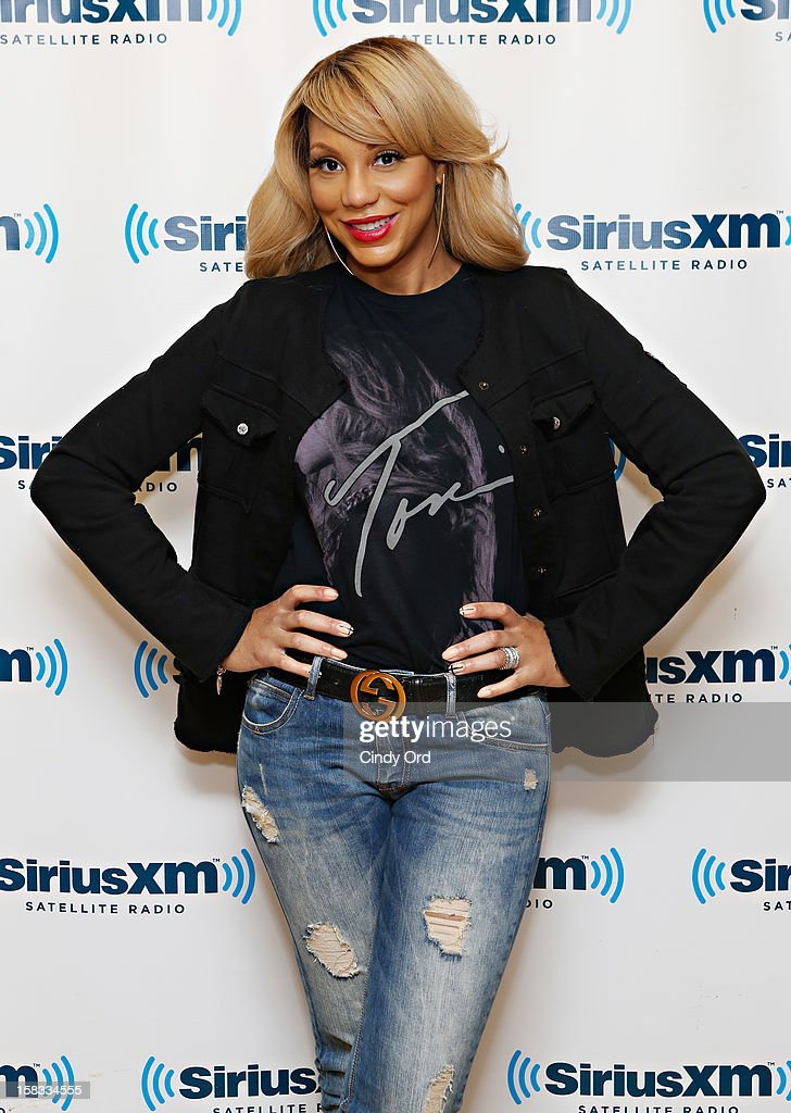 Singer Tamar Braxton visits the SiriusXM Studios on December 13, 2012 in New York City.