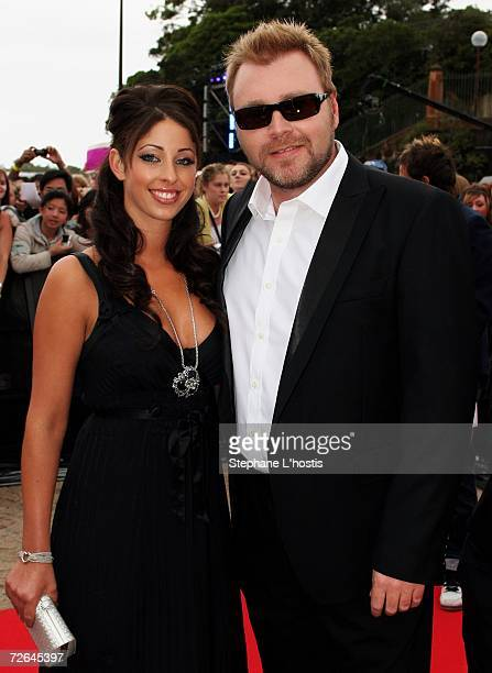 Singer Tamara Jaber and Australian Idol judge and partner Kyle Sandilands arrive at the Australian Idol Grand Final 2006 at the Sydney Opera House on...