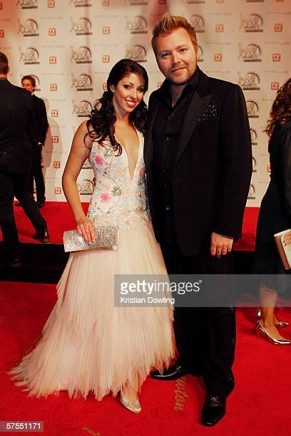Singer Tamara Jaber arrives with partner Kyle Sandilands at the 48th Annual TV Week Logie Awards at the Crown Entertainment Complex on May 7 2006 in...