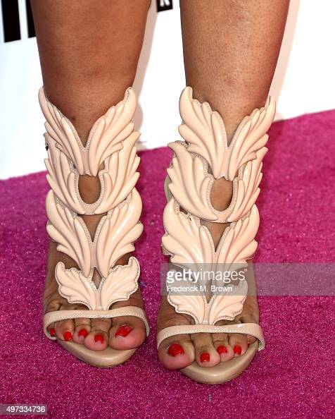 Singer Tameka Cottle shoe detail attends VH1 Big in 2015 With Entertainment Weekly Awards at Pacific Design Center on November 15 2015 in West...