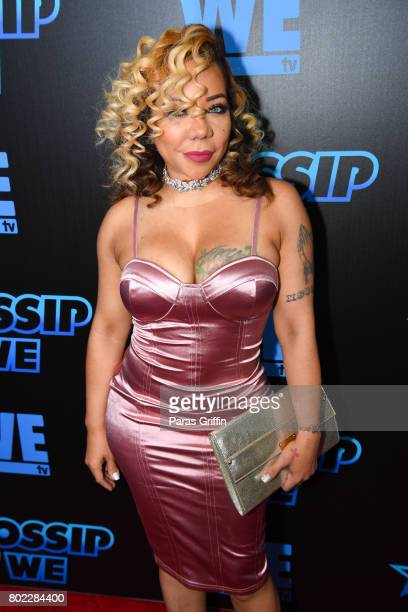 Singer Tameka 'Tiny' Harris of Xscape at 'Bossip On WE' Atlanta Launch Celebration at Elevate at W Atlanta Midtown on June 27 2017 in Atlanta Georgia