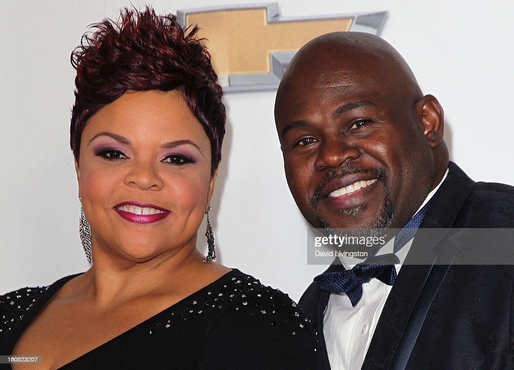 Singer Tamela Mann (L) and husband actor David Mann attend the 44th NAACP Image Awards at the Shrine Auditorium on February 1, 2013 in Los Angeles, California.