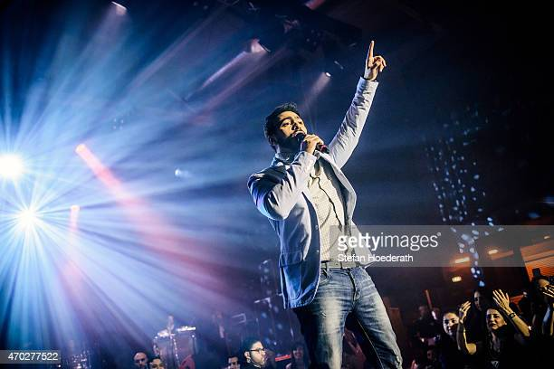 Singer Tamer Hosny performs live on stage during a concert at Columbiahalle on April 18 2015 in Berlin Germany