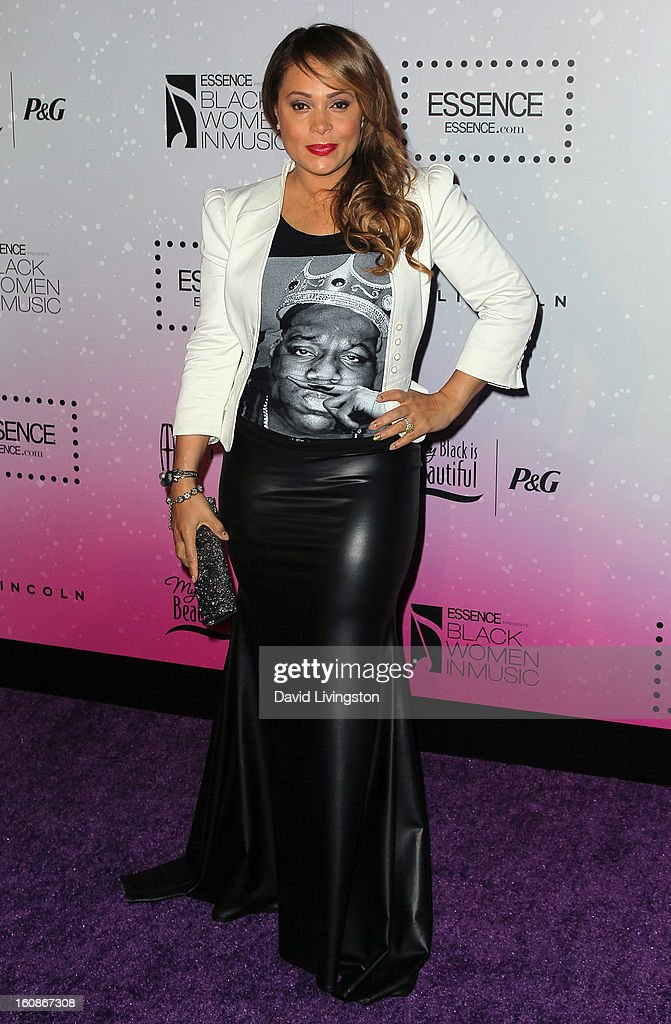 Singer <a gi-track='captionPersonalityLinkClicked' href=/galleries/search?phrase=Tamia&family=editorial&specificpeople=216487 ng-click='$event.stopPropagation()'>Tamia</a> attends the 4th Annual ESSENCE Black Women In Music honoring Lianne La Havas and Solange Knowles at Greystone Manor Supperclub on February 6, 2013 in West Hollywood, California.