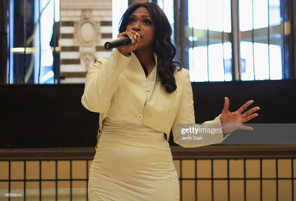 Singer Tanay Jackson performs at the Made In The USA 2013 Fashion Presentation at the Carlton Hotel on April 23, 2013 in New York City.