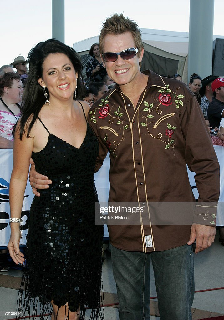 Singer Tania Kernaghan and her husband arrive at the 35th Country Music Awards of Australia also know as the Golden Guitar Awards at the Tamworth...