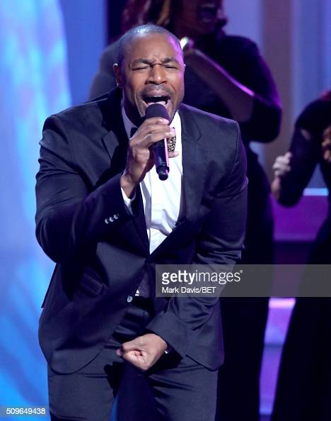 Singer Tank performs onstage during BET Celebration Of Gospel 2016 at Orpheum Theatre on January 9 2016 in Los Angeles California