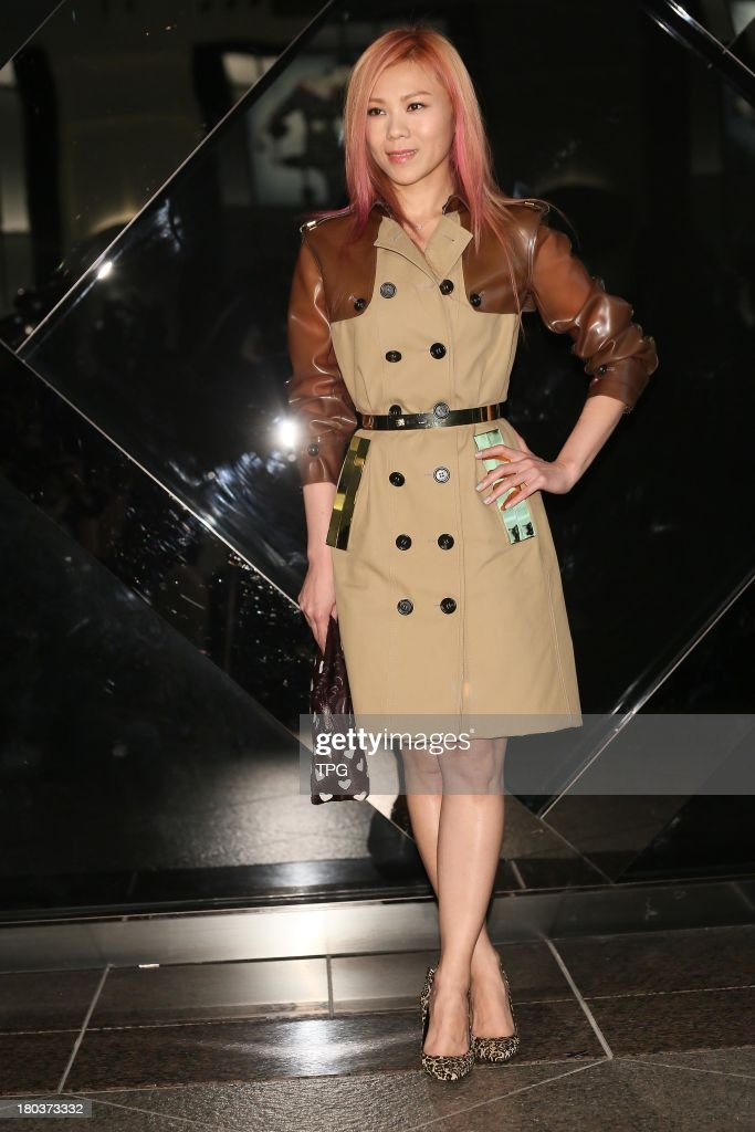 Singer Tanya Chua attends fashion show held by Burberry on Wednesday September 11,2013 in Taipei,China.