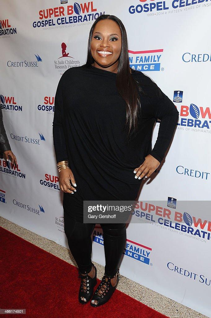 Singer Tasha Cobbs attends the Super Bowl Gospel Celebration 2014 on January 31, 2014 in New York City.