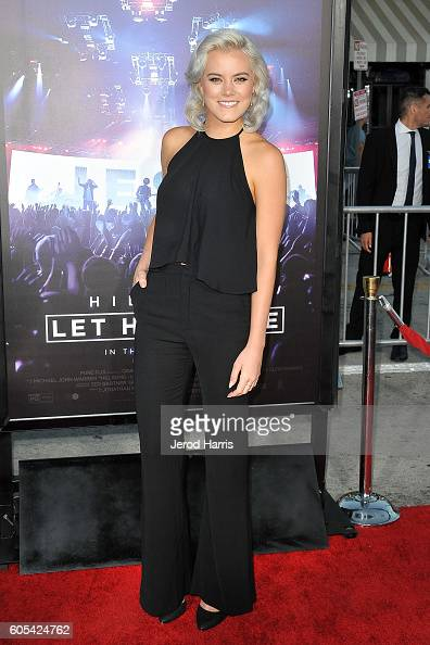 Singer Taya Smith arrives at the Premiere Of Pure Flix Entertainment's 'Hillsong Let Hope Rise' at Mann Village Theatre on September 13 2016 in...