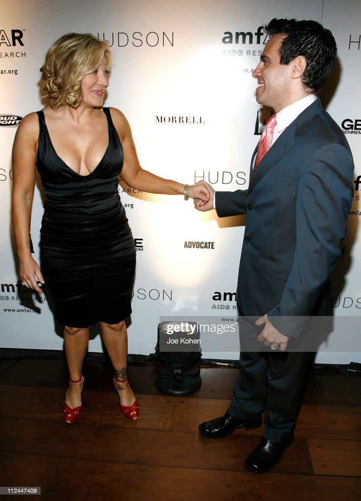 Singer Taylor Dayne and actor Mario Cantone attend the 9th Annual amfAR Honoring With Pride Celebration at the Hudson on June 9 2008 in New York City
