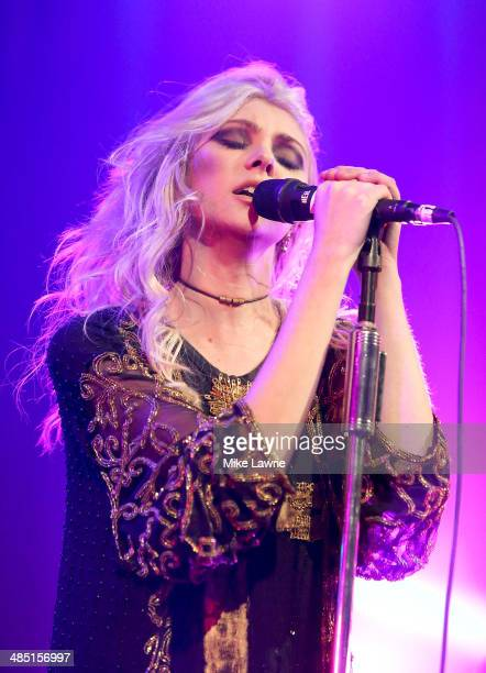 Singer Taylor Momsen of the Pretty Reckless performs at the Music Hall of Williamsburg on April 16 2014 in the Brooklyn borough of New York City