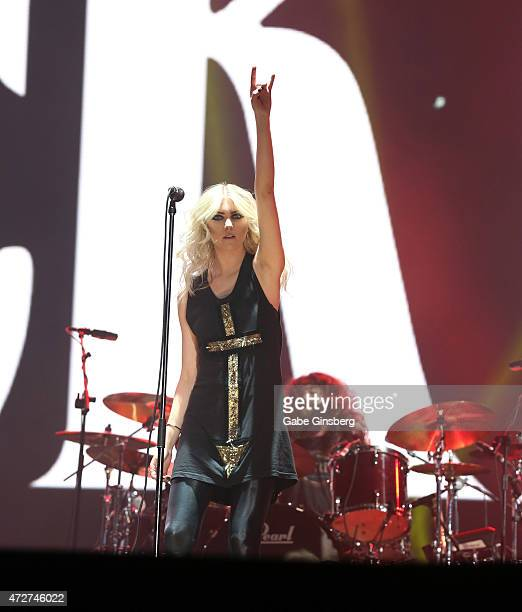 Singer Taylor Momsen of The Pretty Reckless performs during Rock in Rio USA at the MGM Resorts Festival Grounds on May 8 2015 in Las Vegas Nevada