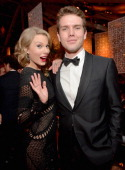 Singer Taylor Swift and Austin Swift attend The Weinstein Company Netflix's 2014 Golden Globes After Party presented by Bombardier FIJI Water Lexus...
