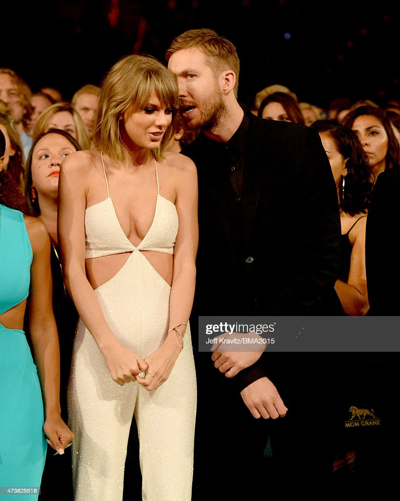 Singer Taylor Swift and DJ Calvin Harris attend the 2015 Billboard Music Awards at MGM Grand Garden Arena on May 17 2015 in Las Vegas Nevada