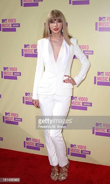 Singer Taylor Swift arrives at the 2012 MTV Video Music Awards at Staples Center on September 6 2012 in Los Angeles California