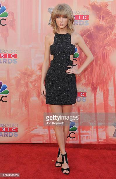 Singer Taylor Swift arrives at the 2015 iHeartRadio Music Awards at The Shrine Auditorium on March 29 2015 in Los Angeles California