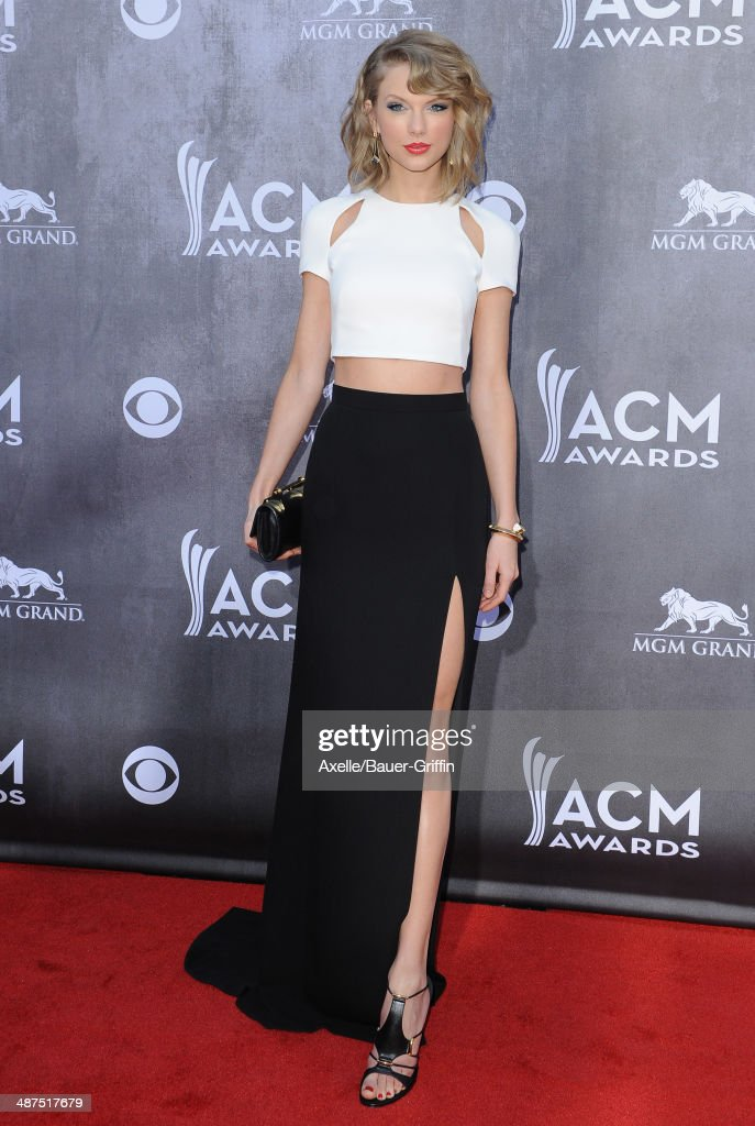 Singer Taylor Swift arrives at the 49th Annual Academy of Country Music Awards at the MGM Grand Hotel and Casino on April 6 2014 in Las Vegas Nevada