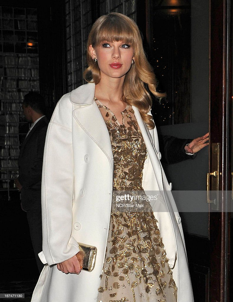 Singer <a gi-track='captionPersonalityLinkClicked' href=/galleries/search?phrase=Taylor+Swift&family=editorial&specificpeople=619504 ng-click='$event.stopPropagation()'>Taylor Swift</a> as seen on December 3, 2012 in New York City.